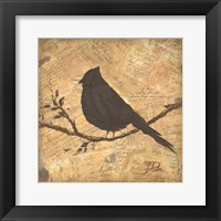 Framed Bird Silhouette II