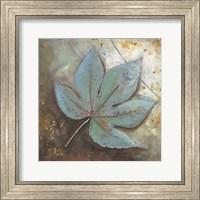 Framed Turquoise Leaf II
