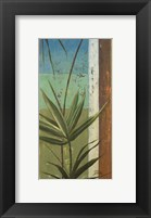 Framed Bamboo & Stripes I