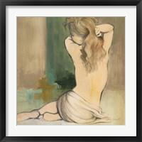 Framed Waking Woman I (green)