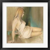 Framed Waking Woman II (green)