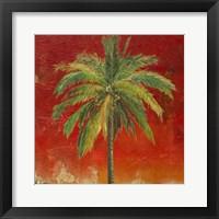 Framed La Palma on Red I