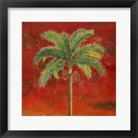 Framed La Palma on Red II