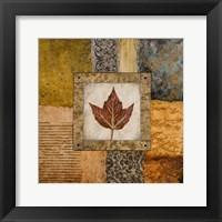 Framed Fallen Leaf I (red)