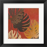 Framed My Fashion Leaves on Red II