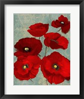 Framed Kindle's Poppies II