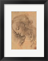 Framed Testa di Donna di Profilo