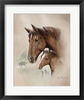 Framed Race Horse I