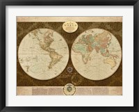 Framed Map of World