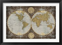 Framed World Map