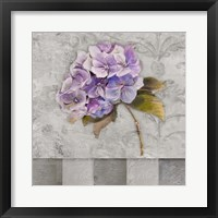 Framed Hydrangeas & Stripes II