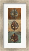 Framed New Leaf Panel II (Vertical)