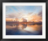 Framed Sunset over Lake