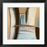 Time Flies on Blue II Framed Print