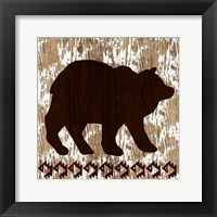 Framed Wilderness Bear