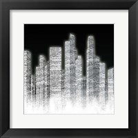 Black and White City I Framed Print