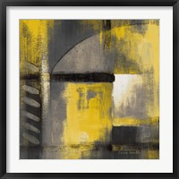 Framed Grey and Yellow Soiree I