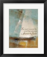 Framed Adjust the Sails & Journey I