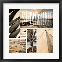 Coastal Collage I Framed Print