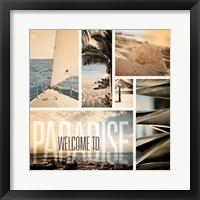 Coastal Collage II Framed Print
