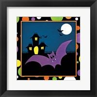 Framed Halloween Bat