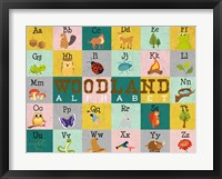 Framed Woodland Alphabet (horizontal)