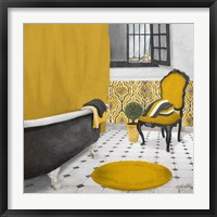 Framed Sundance Bath I (yellow)