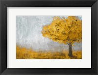 Framed Yellow Eternal Tree