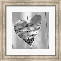 Framed B&W Heart Full of Love