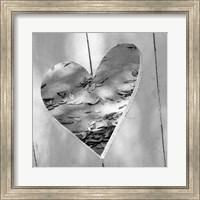 Framed B&W Heart Full of Love