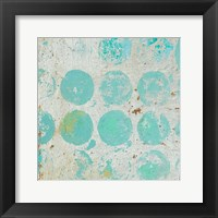 Framed Aqua Circles I