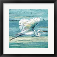 Framed Great Egret I