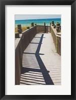 Coast Dock I Framed Print