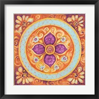 Framed Pink Medallion II