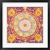 Framed Pink Medallion I