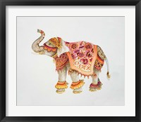 Framed Pink Elephant IIA