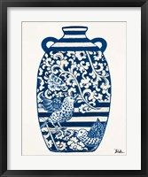 Framed Indigo Pottery I