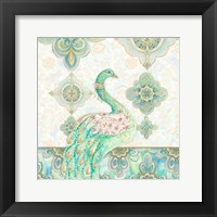 Framed Emerald Peacock I
