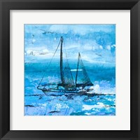 Coastal Boats in Watercolor II Framed Print