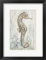 Framed Antique Sea Horse I