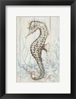 Framed Antique Sea Horse II