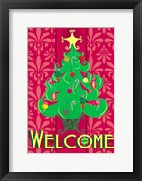 Framed Christmas Tree Welcome
