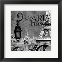 Framed Parisian Wall Black I