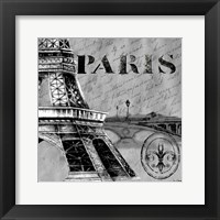 Framed Parisian Wall Black III
