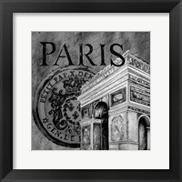 Framed Parisian Wall Black IV