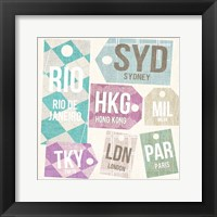 City Tags Square II Framed Print