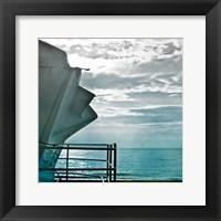 On a Teal Beach I Framed Print
