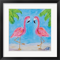 Framed Fancy Flamingos III