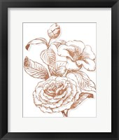 Framed Etched Metallic FLoral II
