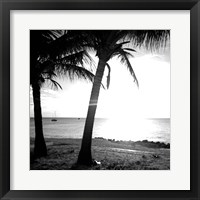 Framed BW Bimini Sunset II